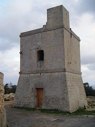 Wardija Tower - Wardija Tower viewed from the north
