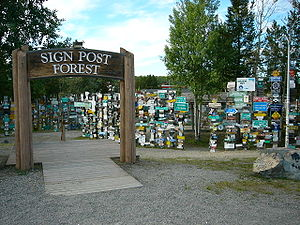 Watson Lake, Yukon - Signpost forest at Watson Lake, Yukon