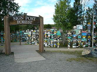 Watson Lake, Yukon - Image: Watson Lake Signpost