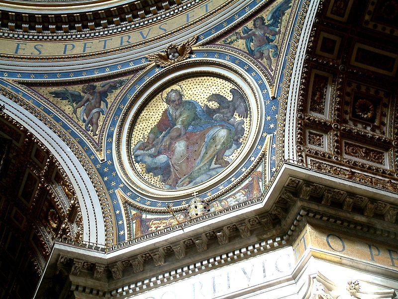 Plik:Watykan Bazylika sw Piotra medalion pod kopula.JPG
