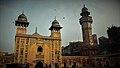 Wazir khan mosque's gate with right minaret.jpg