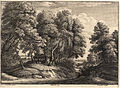 Wenceslas Hollar - The shepherd in the wood (Jacques van Artois) (State 1).jpg