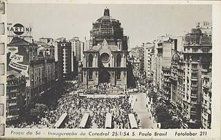 Praça da Sé - Inauguração da Catedral - 25/1/54 - S. Paulo - Brasil - Fotolabor - 211