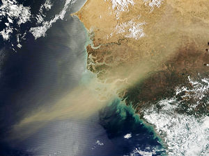 West Africa - Satellite imagery from outer space of West Africa