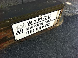 West Yorkshire County Council - A former West Yorkshire Metropolitan County Council sign found outside the West Yorkshire Archives, Wakefield, West Yorkshire