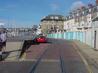 Weymouth Harbour Tramway - Near the former cargo loading stage, 2005