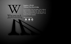 Stop Online Piracy Act - Image: Wikipedia Blackout Screen