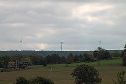 Wind turbines in Union Township
