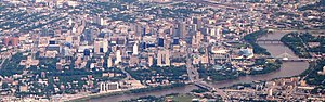 Downtown Winnipeg - Downtown Winnipeg seen from Above.