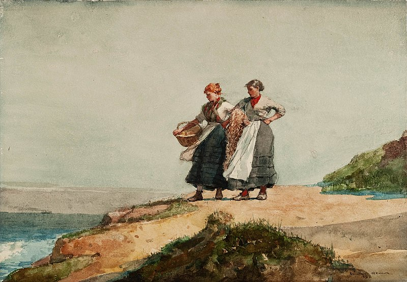 File:Winslow Homer - Looking out to Sea, Cullercoats (1882).jpg