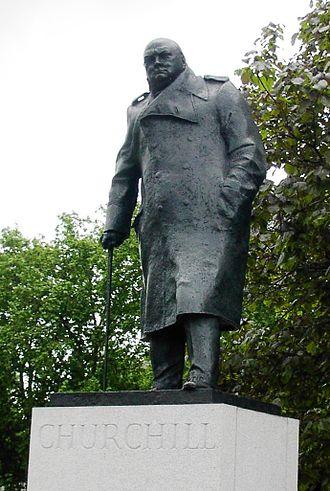 Winston Churchill as historian - Statue of Winston Churchill in Parliament Square, London