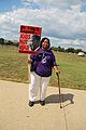 Woman peace activist - Dr. King's legacy - Jobs not war - 50th Anniversary of the March on Washington for Jobs and Freedom.jpg
