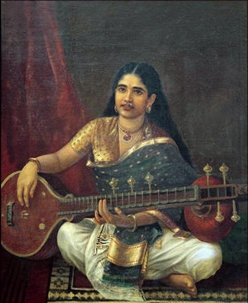File:Woman with veena by Raja Ravi Varma.jpg