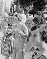 Women citizens witness detail, from- Student Action for Aborigines protest outside Moree Town Hall and Council Chambers, February 1965 - The Tribune (20205918354) (cropped).jpg