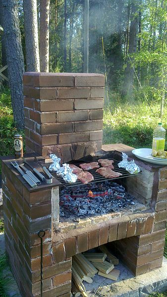 File Wood Heated Outdoor Barbecue Jpg