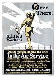 Póster de reclutamiento del servicio aéreo del ejército de los EE. UU. De la Primera Guerra Mundial4.jpg