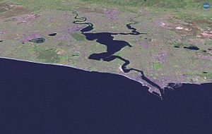 Swan River (Western Australia) - Satellite imagery of the Swan River and surrounds