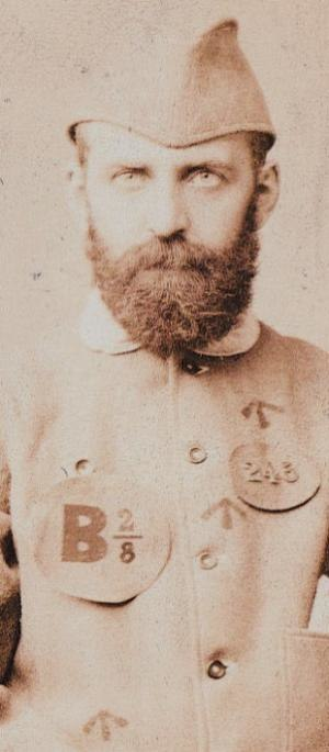 Eliza Armstrong case - W.T Stead photographed in his prison uniform