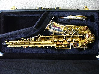 Peter King (saxophonist) - A Yanagisawa A9932J alto saxophone which is very similar to the A9932Z played by Peter King. It has a solid silver bell and neck with solid phosphor bronze body. The bell, neck and key-cups are extensively engraved. Manufactured in 2008