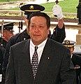 Yasukazu Hamada cropped Yasukazu Hamadand and John Hamre 19981103.jpg