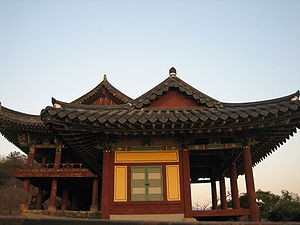 South Gyeongsang Province - Yeongnamru in Miryang, province Gyeongsangnam-do. A pavilion from the Joseon Dynasty
