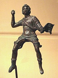 Statuette of the young Alexander striding a horse, Begram, Afghanistan.