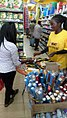 Young and energetic product ambassador promoting Bic products at a supermarket in Kenya.jpg