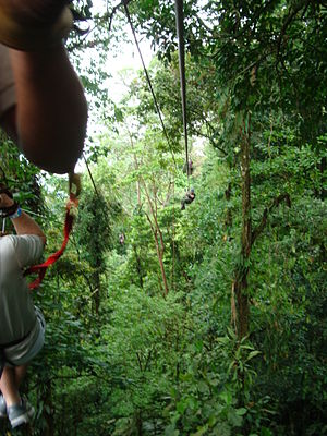 Zip-line - Zip-line set-up in Costa Rica