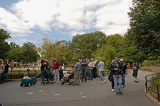 National Zoological Park (United States) - Olmsted Walk, near the zoo's Elephant House