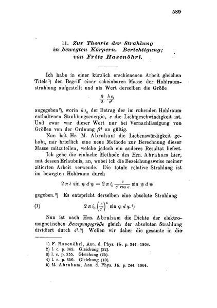 File:Zur Theorie der Strahlung in bewegten Körpern. Berichtigung.djvu