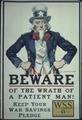 """""""Beware of the wrath of a patient man^ Keep your War Saving Pledge. W.S.S. War Saving Stamps issued by the United... - NARA - 512649.tif"""