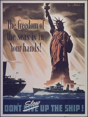 Freedom of the seas - Freedom of the Seas, World War II US poster