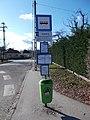 'Ároktő út' bus stop, 2019 Rákosliget.jpg