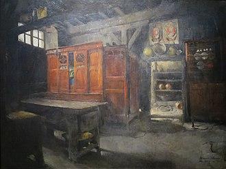 Harriet Backer - Image: 'Breton Interior' by Harriet Backer, 1882, Bergen Kunstmuseum