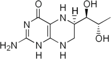 Tetrahydrobiopterin structure.png