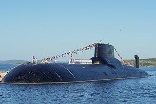 Russian submarine <i>Dmitriy Donskoi</i> (TK-208) Ballistic missile submarine