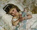 Émile Munier, 1881 - Amies - Girl with doll.jpg