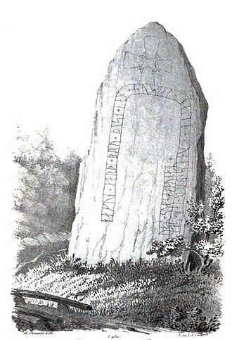Gunnar's bridge runestones - Image: Ög 162, Kullerstads bro