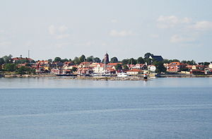 Öregrund - Öregrund seen from a boat moving between Gräsö and Öregrund