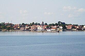 Öregrund - Öregrund seen from a boat moving between Gräsö and Öregrund
