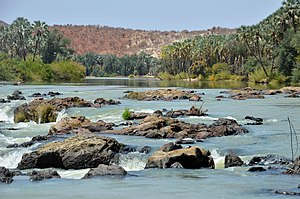 Cunene River - Cunene River near Epupa Falls