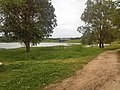 Вид на Волгу и железнодорожный мост в посёлке Пено.jpg