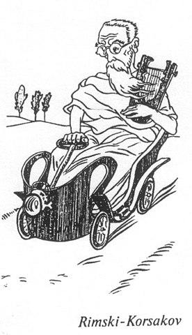 Римский-Корсаков на карикатуре П. Робера, 1903
