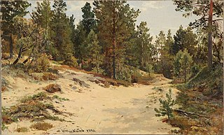 Landscape with pines