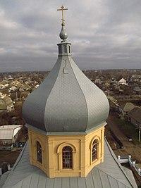 Покровська (старообрядницька) церква - купол, Кілія.JPG