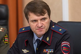 Ministry of Internal Affairs of Transnistria - Major General Ruslan Mova, the current Minister of Internal Affairs, in 2017.