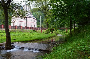 Tuman monastery - Image: Споменик природе Бигрена акумулација код манастира Тумане 01