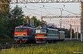 ЧС2-937 и ВЛ10к-450, Россия, Омская область, депо Московка (Trainpix 187772).jpg