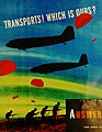"""""""Transports! Which Is Ours?"""" Aircraft Recognition Tests, 1943 (26443320770).jpg"""
