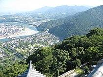 岩国城から見た錦帯橋.jpg